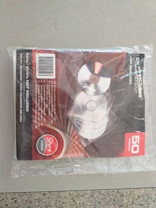 100 fundas de plástico para CD/DVD