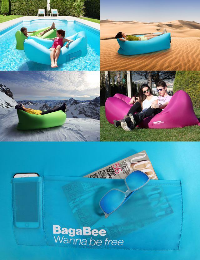 Saco inflable colchoneta playa nueva outlet