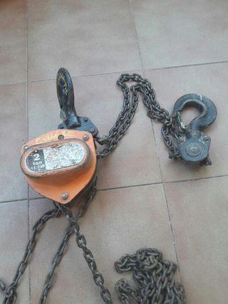 Polipasto de cadena manual