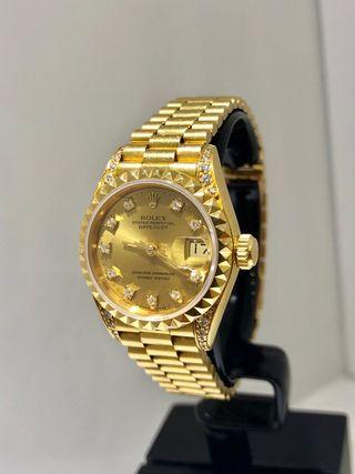 Rolex Datejust. Dama. Oro 18kt y Diamantes.