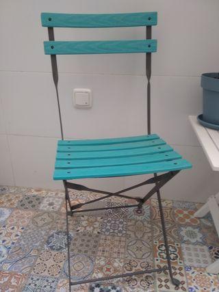 conjunto sillas plegables exterior