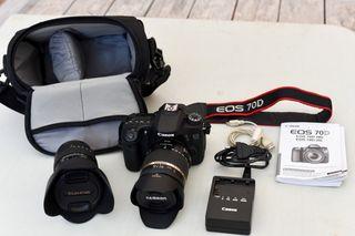 Canon EOS D70 SLR + 2 objetivos
