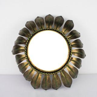 Espejo Sol Vintage De Metal Pintados Espejos