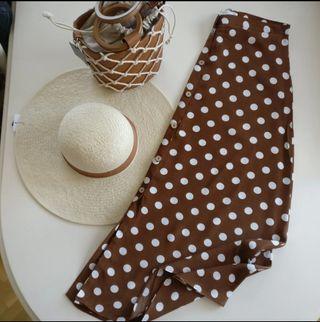 92c38a9d7 Falda marrón Mango de segunda mano en Madrid en WALLAPOP