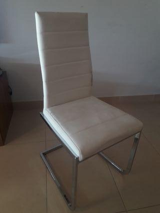 Lote de 4 sillas de comedor para retapizar