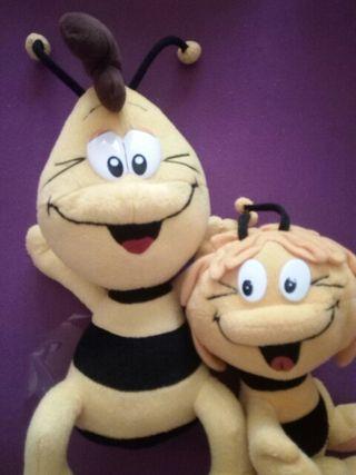 peluches la abeja Maya y su amigo Willy