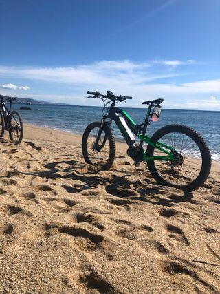 Ebike bicicleta de montaña doble 27 1/2 plus