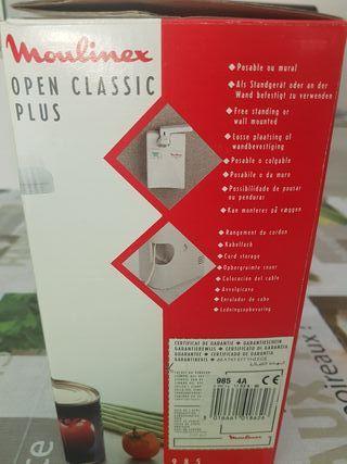 Abrelatas eléctrico moulinex nuevo y afilador