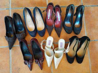 lote de zapatos de piel en muy buen estado