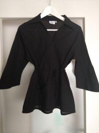 Camisa de Lino negra Talla P (38)