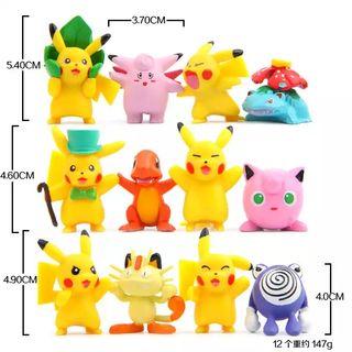 Pack 10 figuras Pokémons/Pikachu. NUEVAS