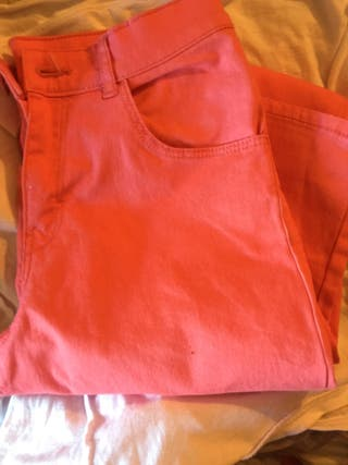 Pantalón de h&m color salmon