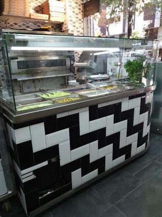 vitrina para kebab frío L