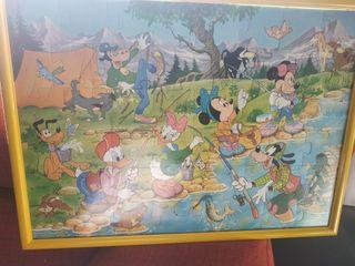Cuadro puzzle Disney Mickey con marco buen estado