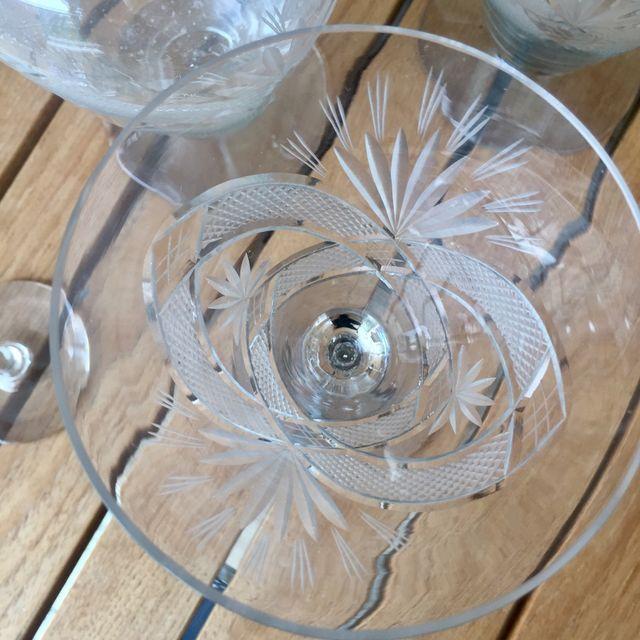 Antigua Cristalería tallada 59 piezas