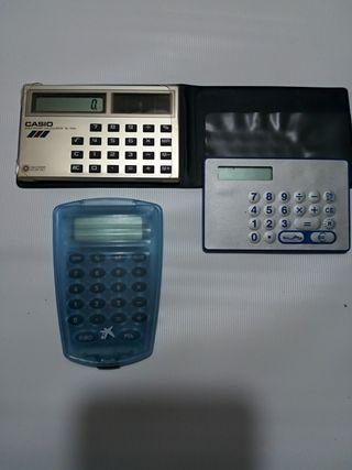 Lote calculadoras vintage