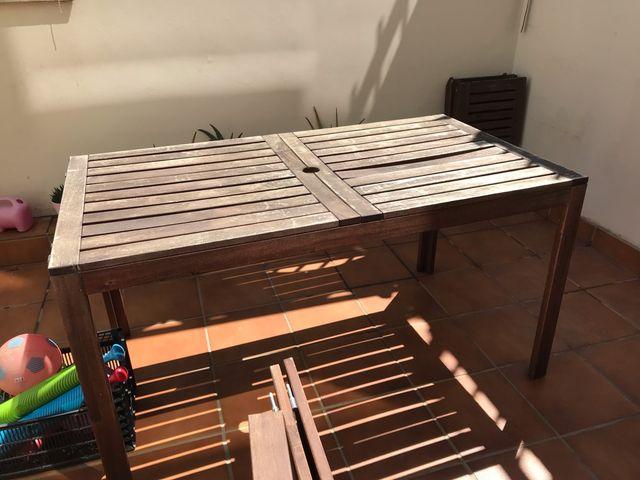 Mesa Terraza Madera Ikea Applaro De Segunda Mano Por 70 En