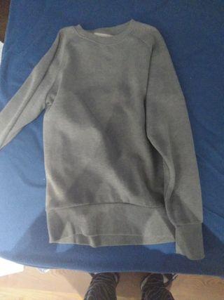 Sudadera sin capucha gris