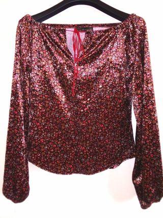 Blusa Zara terciopelo M