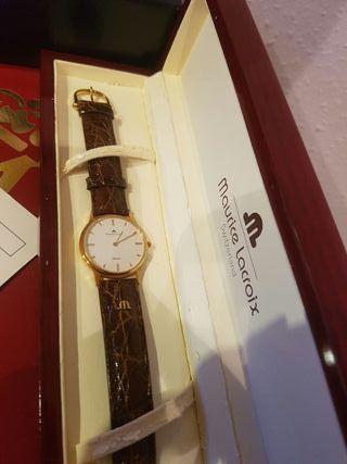 reloj maurice lacroix de oro 18kl