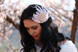 Tocado de plumas para novia ,invitada ,chica Nuevo