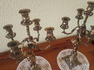 impresionantes candelabros de bronce