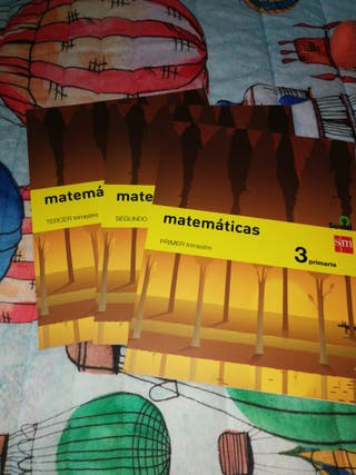LIBROS SM NUEVOS DE MATEMÁTICAS 3 PRIMARIA