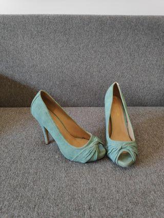 Zapatos turquesa