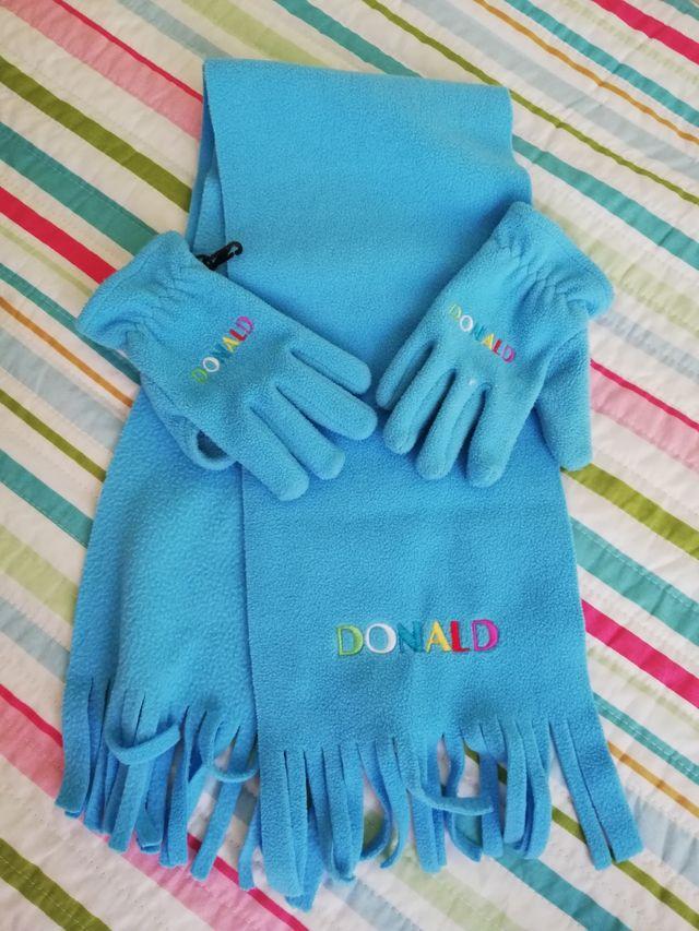 Bufanda y guantes