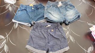 Pantalones cortos talla 2/3 años