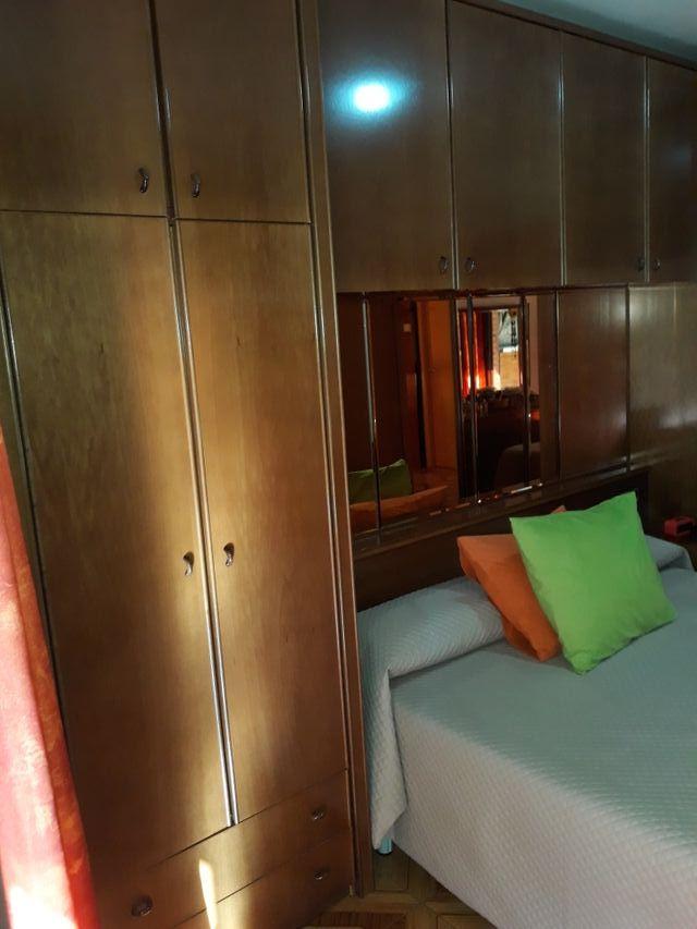 armarios dormitorio puente, chapado en madera