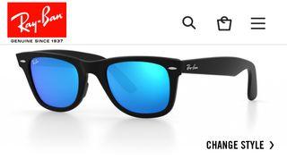 74a8b78b12 Gafas Ray Ban azules de segunda mano en Barcelona en WALLAPOP