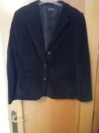 chaqueta de invierno de pana señora