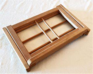 Atril de lectura ajustable y plegable de madera (B