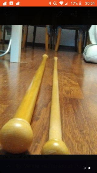 dos barras de madera de 1'50