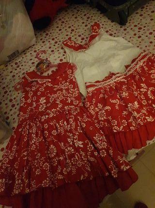 vestido y conjunto= falda + camisa