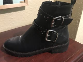 Pimkie Double Buckle studded boot
