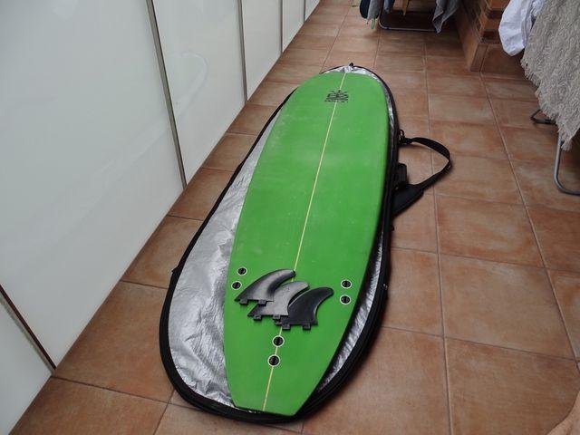 "Tabla de surf evolutiva Bekain+quillas+funda 7'2"""