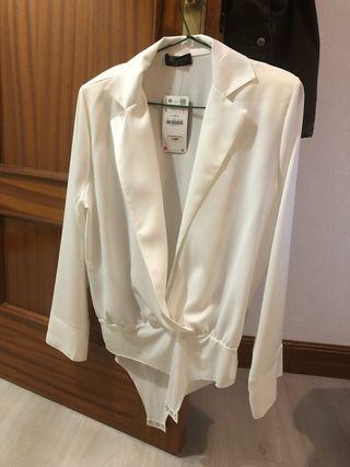 Body-camisa Zara talla L