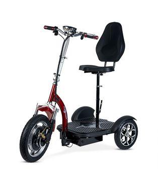Triciclo eléctrico con silla comodo y seguro