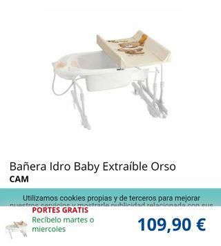 Bañera-cambiador bebé para bañera
