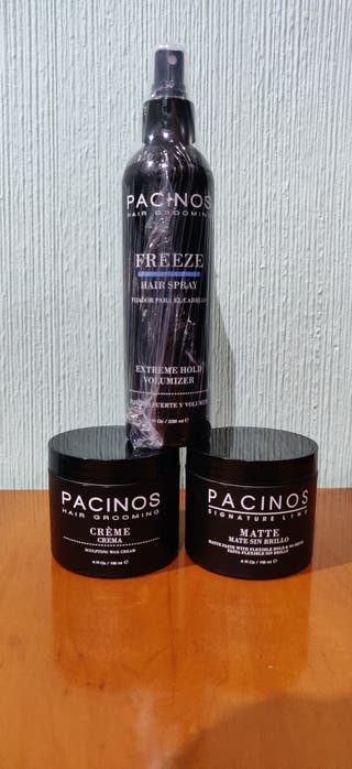 Pack Pacinos Spray, Matte paste y Creme. Valor=65€