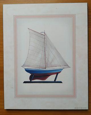 Cuadro Vintage Barco Velero