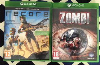 Dos juegos para Xbox One. Recore y Zombi