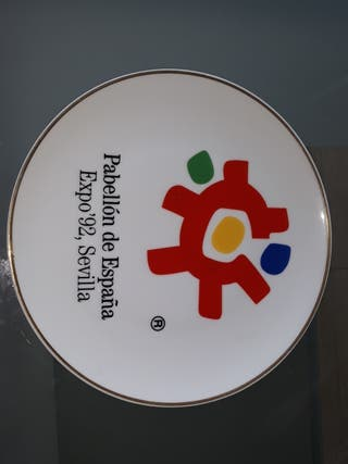 PLATO CONMEMERATIVO EXPO 92.