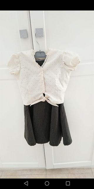 Falda rociera con blusa