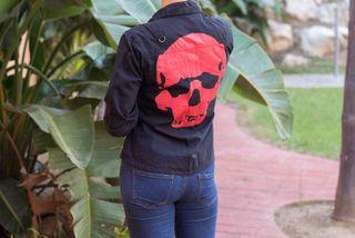 Camisa mujer calavera ROCK PUNK EMO nueva