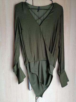 Body-blusa verde
