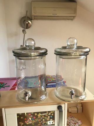 2 Dispensadores de agua de 3 litros con grifo