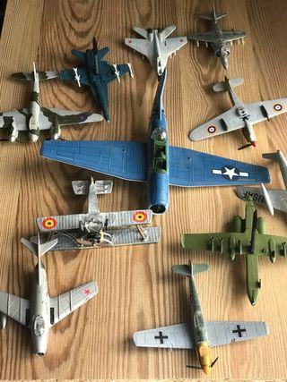 Lote 11 maqueta de aviones de guerra (Altaya)
